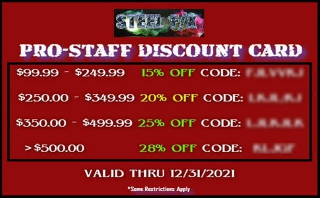 PRO-STAFF DISCOUNT CARD